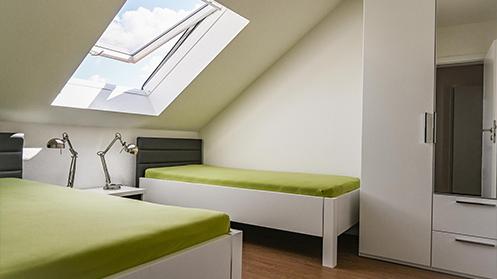 Kinderzimmer in der 3-Zimmer-Fewo in Ramsen bei Eisenberg