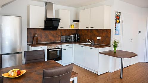 Küche in der Fewo in Ramsen bei Eisenberg in der Pfalz