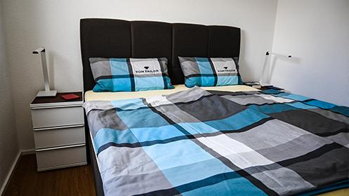 Schlafzimmer in der Fewo in Ramsen bei Eisenberg im Pfälzer Wald